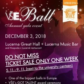 University invites you to the VŠE Ball 2018
