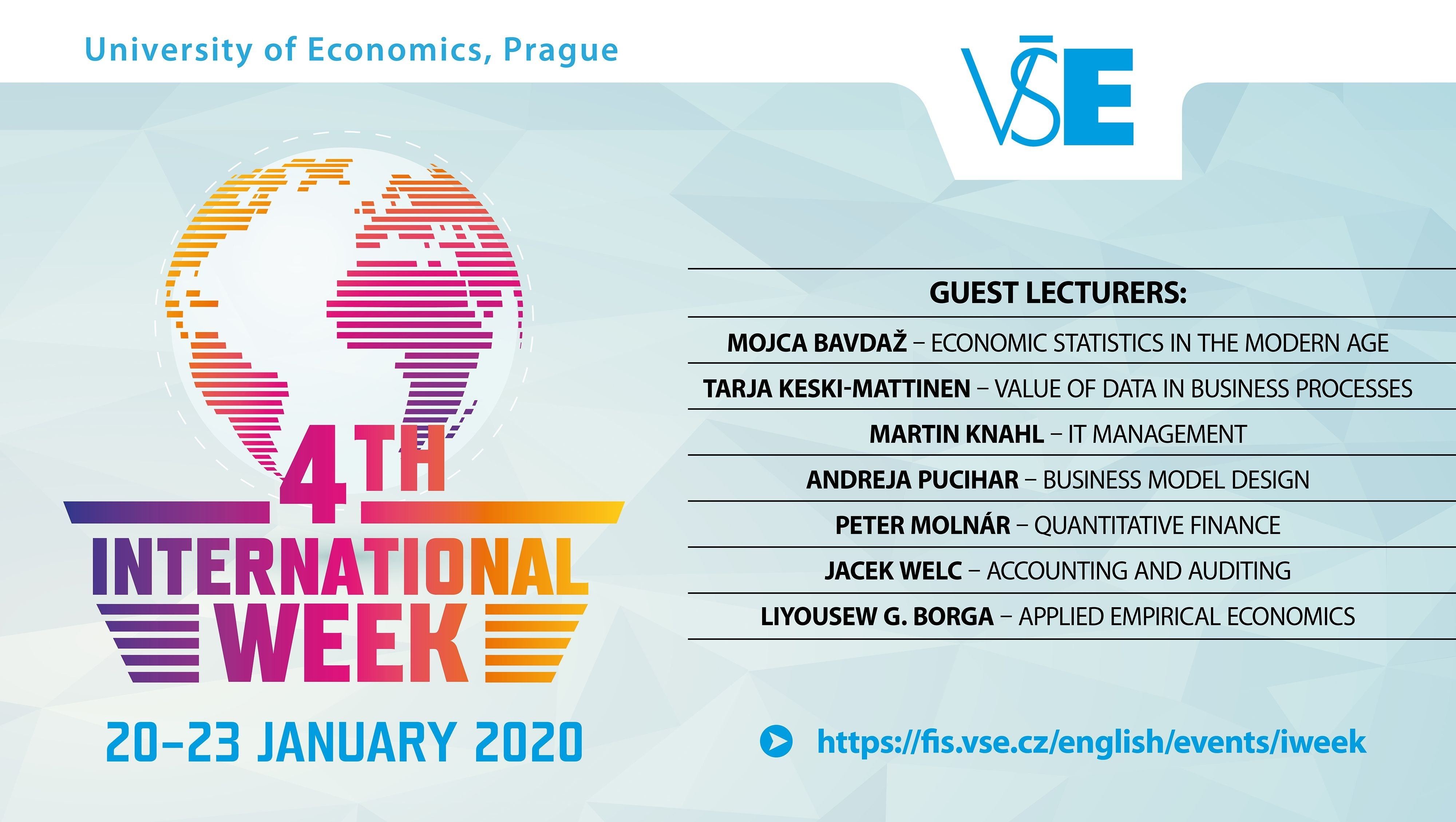 Registrations to International Week courses in January 2020 are OPEN!
