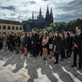 Slavnostní zahájení akademického roku 2019/2020 a imatrikulace studentů 1. ročníku NF VŠE na Pražském hradě za přítomnosti prof. Václava Klause, člena Vědecké rady a přednášejícího na NF VŠE